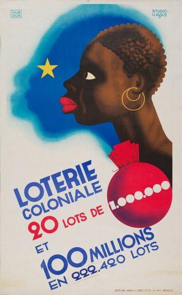 Loterie Coloniale. 20 lots de 1.000.000 et 100 millions en 222.420 lots