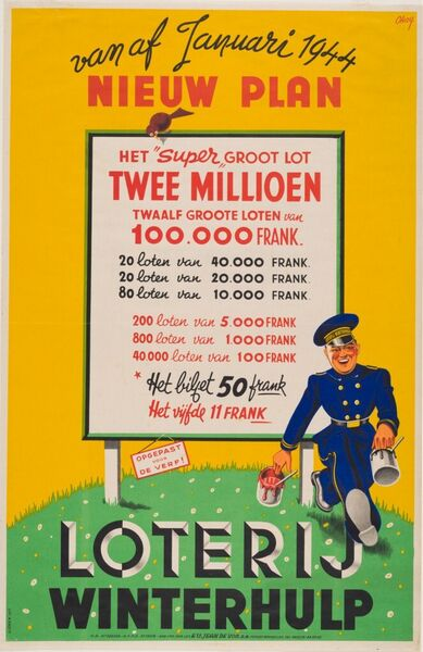 Vanaf Januari 1944. Nieuw plan. Loterij Winterhulp