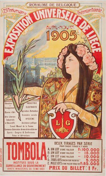 Exposition Universelle de Liège. Avril-Novbre 1905