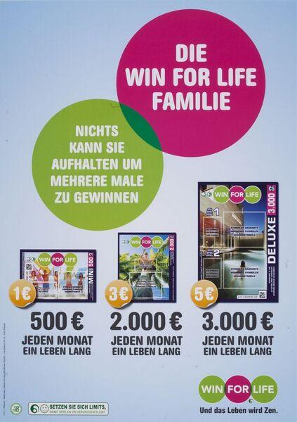 Die Win for Life Familie. Nichts kann Sie aufhalten um mehrere Male zu gewinnen.