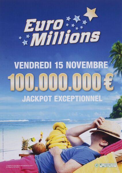 Vendredi 15 novembre 100.000.000 € jackpot exceptionnel