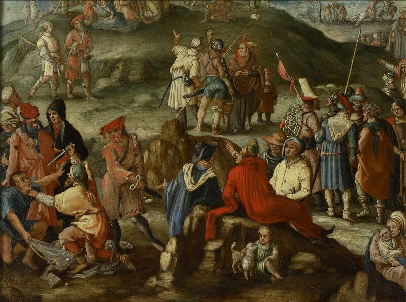 La crucifixion (soldats jouant aux dés)