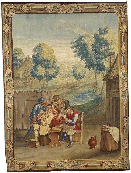 Joueurs de cartes dans un paysage