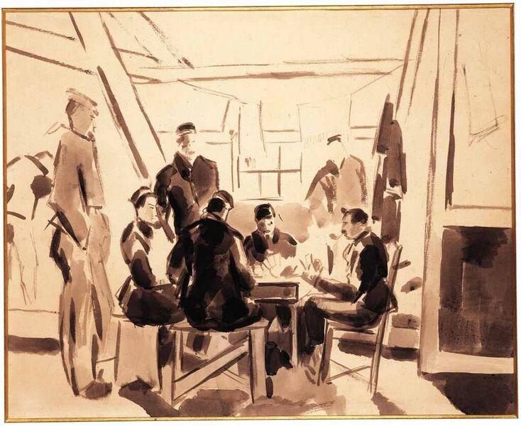 Soldaten in het kamp van Amersfoort