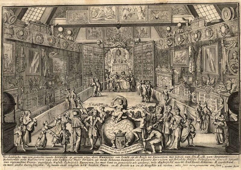 De loterij van Henricus van Soest te Antwerpen. Verbeldinghe van een gedeelte vande Loterye, op gericht 1695, door Henricus van Soest, op de Borse tot Antwerpen ...