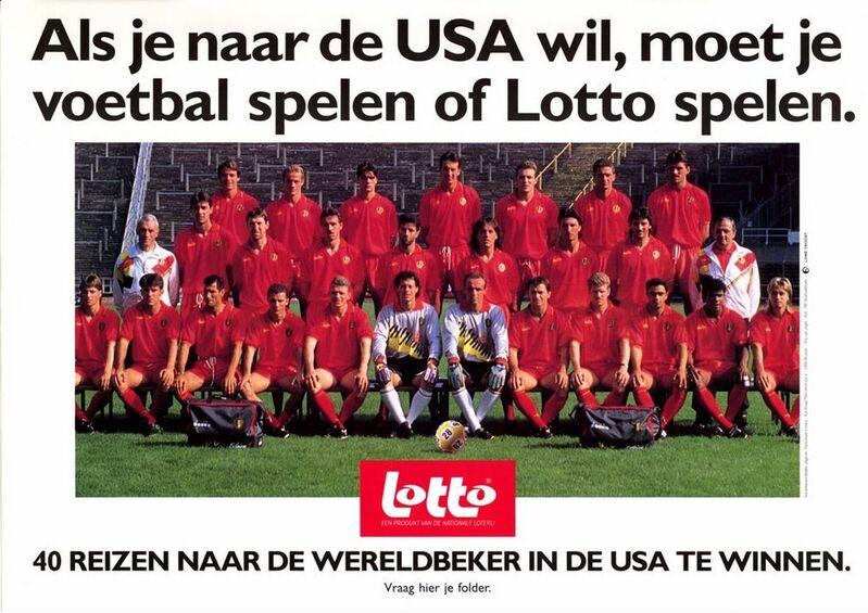 Als je naar de USA wil, moet je voetbal spelen of Lotto spelen.