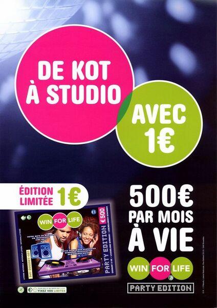 De kot à studio avec 1 €. 500 € par mois à vie.
