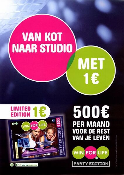 Van kot naar studio met 1 €. 500 € per maand voor de rest van je leven.