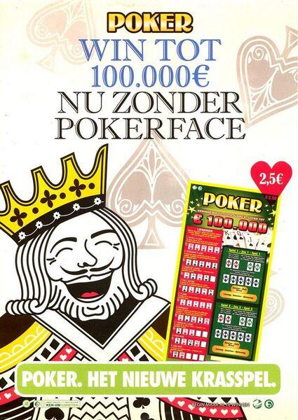 Poker. Win tot 100.000 € nu zonder pokerface