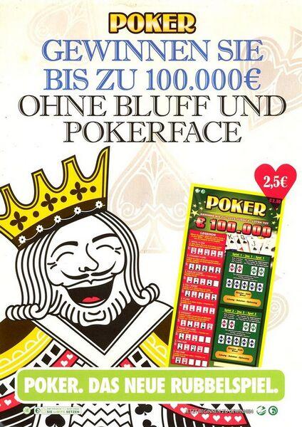 Poker. Gewinnen Sie bis zu 100.000 € ohne Bluff und Pokerface