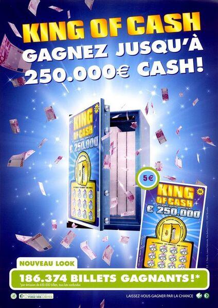 King of Cash. Gagnez jusqu'à 250.000 € cash!