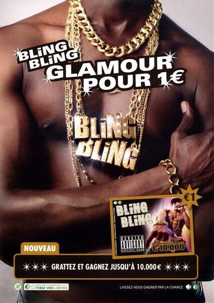 Bling Bling Glamour pour 1€. Grattez et gagnez jusqu'à 10.000 €