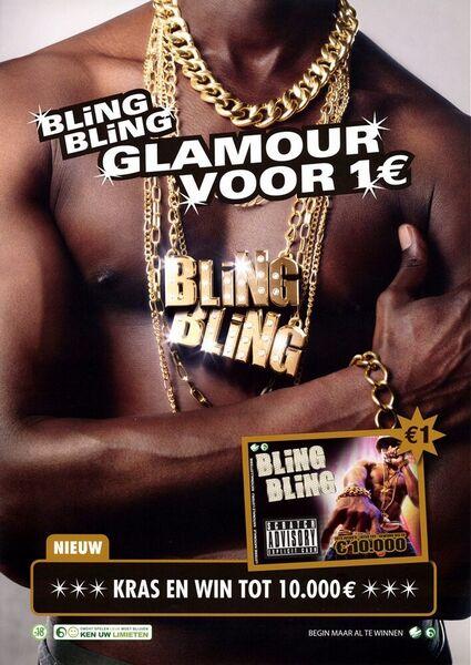 Bling Bling Glamour voor 1€. Kras en win tot 10.000 €