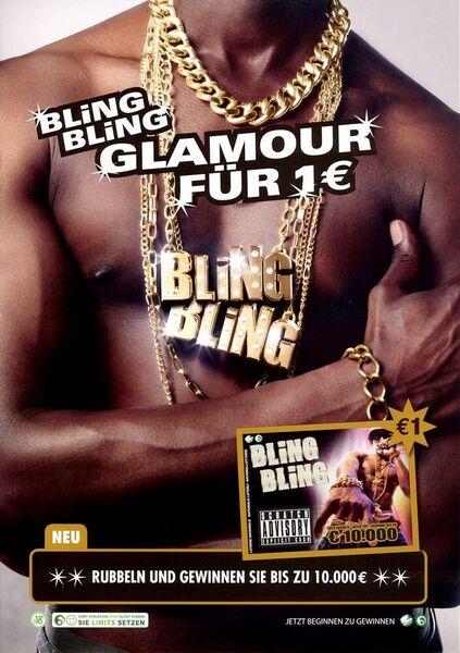 Bling Bling Glamour für 1€. Rubbeln und gewinnen Sie bis zu 10.000 €