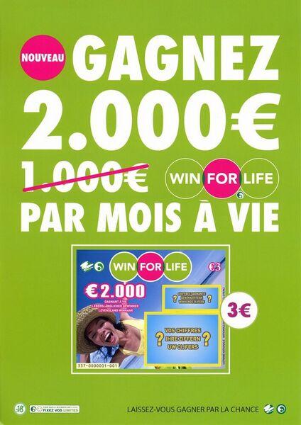 Nouveau. Gagnez 2.000 € par mois à vie.